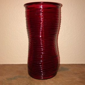 Beautiful Red Colored Textured Vase